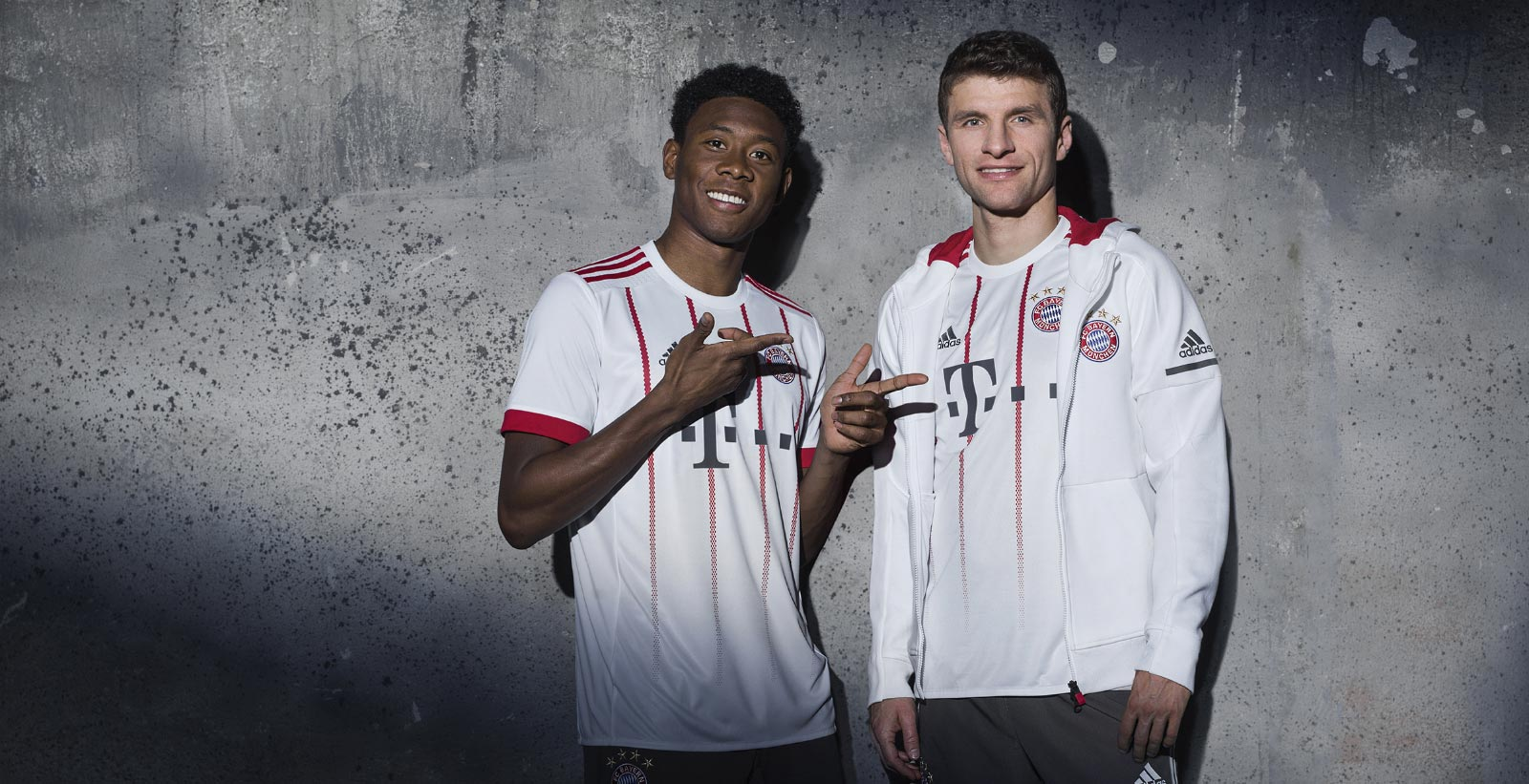 Bayern third kit with fading red pinstripes.