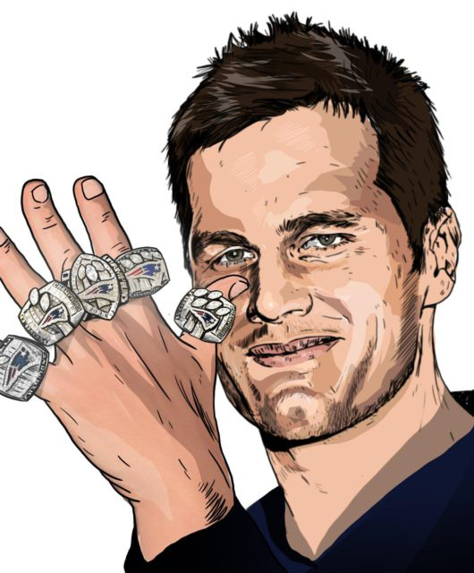 Still got 5 on it. Tom Brady.