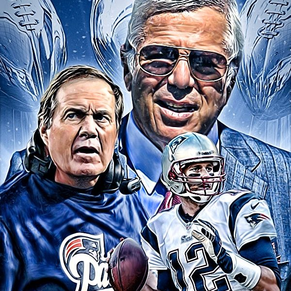 Patriots Icones - Mr Kraft, Coach Belichick & Tom Brady