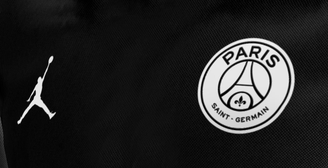 PSG x Jordan Brand Black Champions League kit.